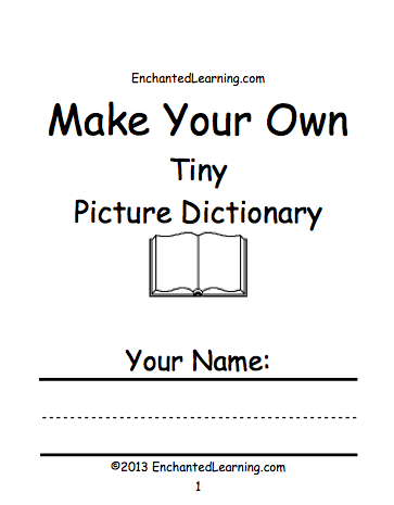 Picture Dictionary Printable Books