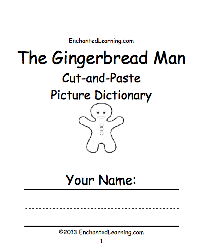 book the words are cottage cow fox garden gingerbread man horse man ...