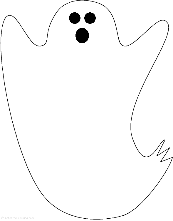 Ghost Tracing/Cutting Template: EnchantedLearning.com