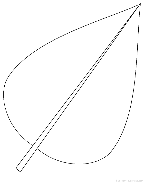 Leaf template cut out