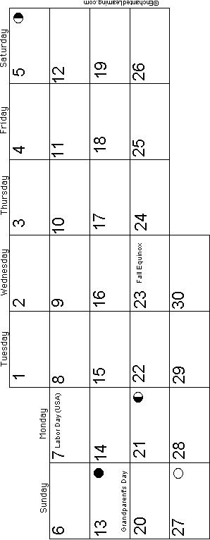 June German Calendar 2015 (European Layout): EnchantedLearning.com.
