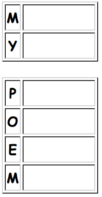 Generate Your Own Acrostic Poem Worksheets