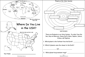 Worksheets Us Geography Worksheets us geography enchantedlearning com where do you live in the usa