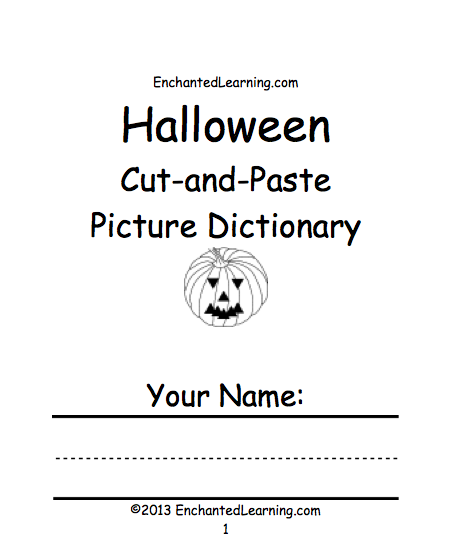 Halloween Activities: Books to Print - EnchantedLearning.com