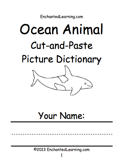 Oceans And Seas Printable Books Enchantedlearning