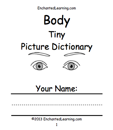 the body beginning readers books enchantedlearningcom - Human Body Coloring Book