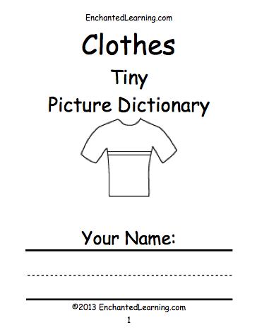 clothes at enchantedlearningcom