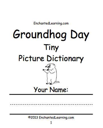 groundhog day crafts worksheets and printable books groundhog day tiny picture dictionary