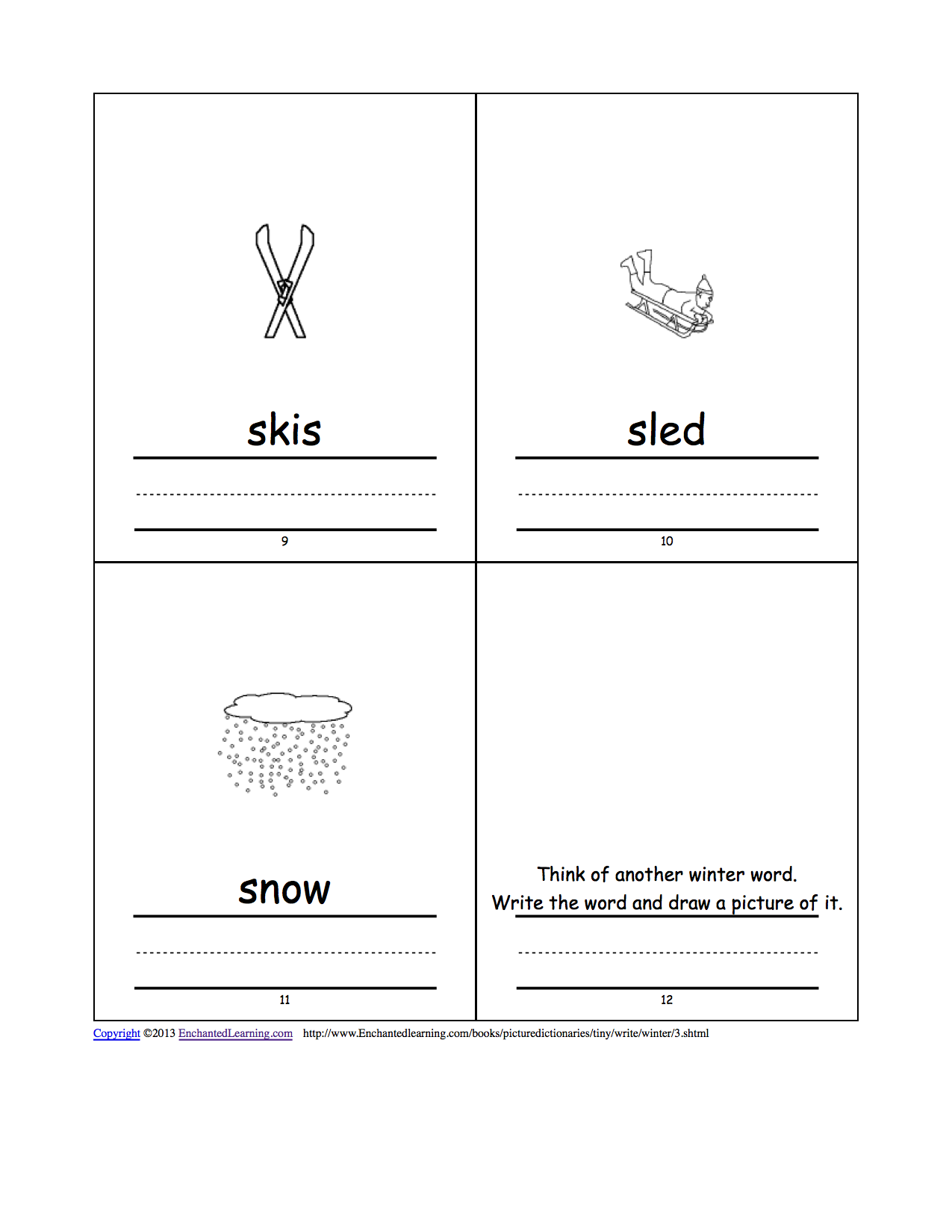 Mitten Template For Writing Mitten Template For Writing