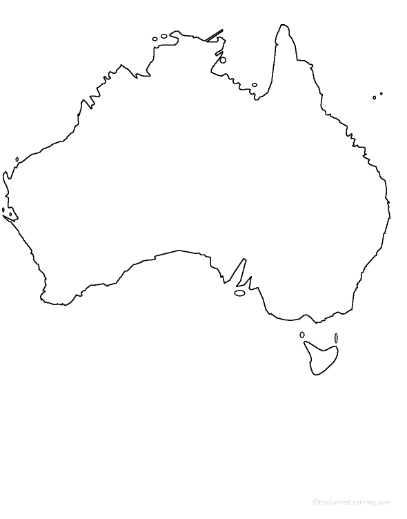 Australia States and Territories ZoomSchool – Empty Map of Australia
