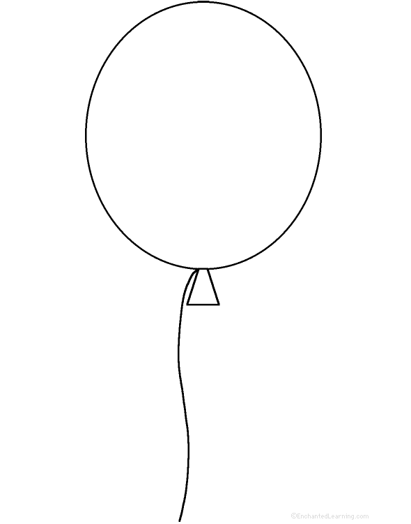 Balloons at for Balloon coloring pages