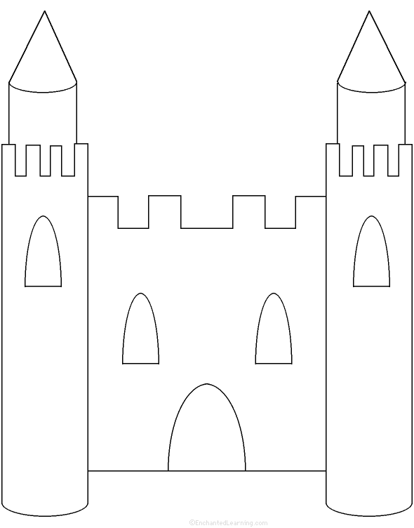 cut out castle template - kings queens and castles at