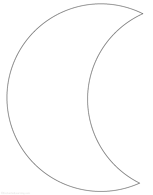 Crescent Moon Template