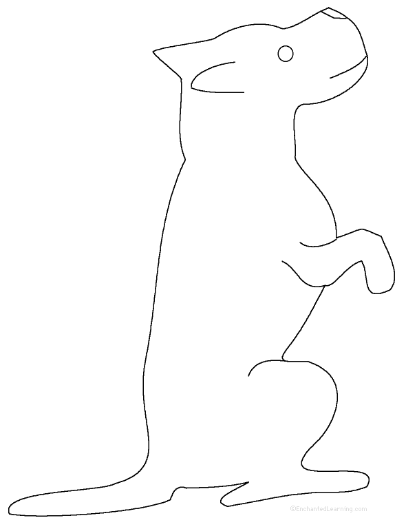Use a pencil to trace the dog or cut it out with a scissors.