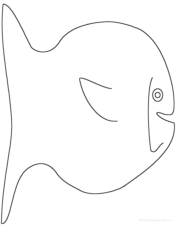 Fish tracing cutting template for Fish cut out template