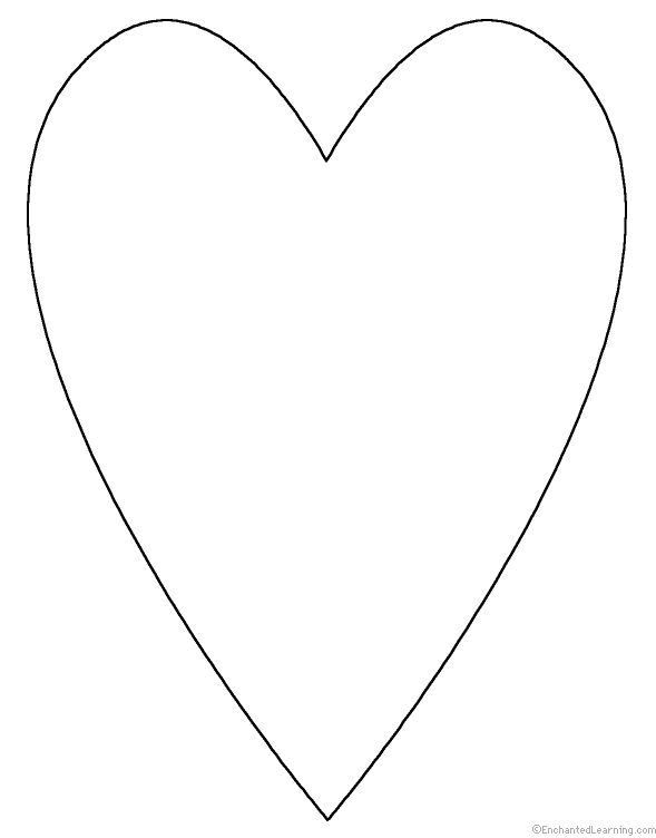 Spelling worksheets shapes at for Heart shaped writing template