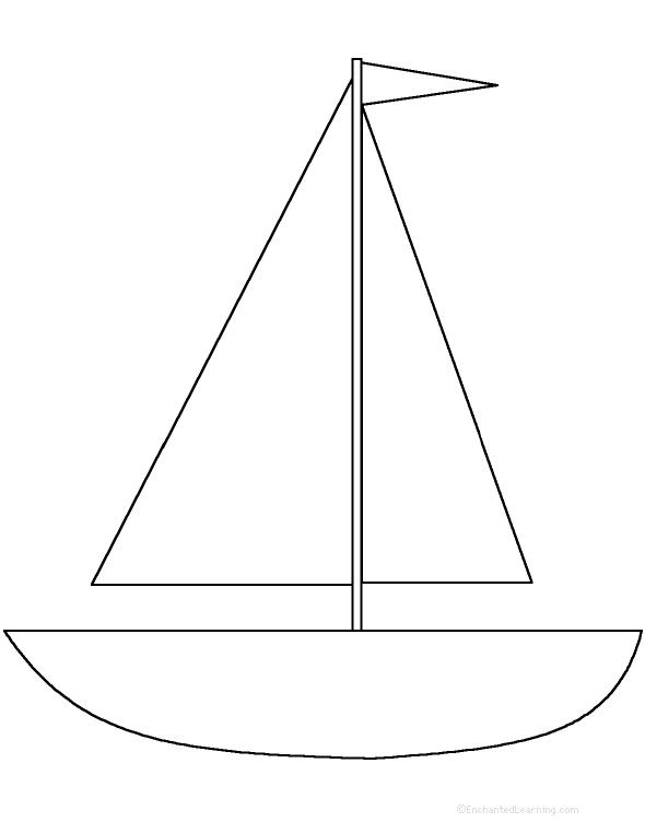 Crafty image regarding sailboat template printable