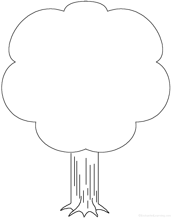 template of a tree