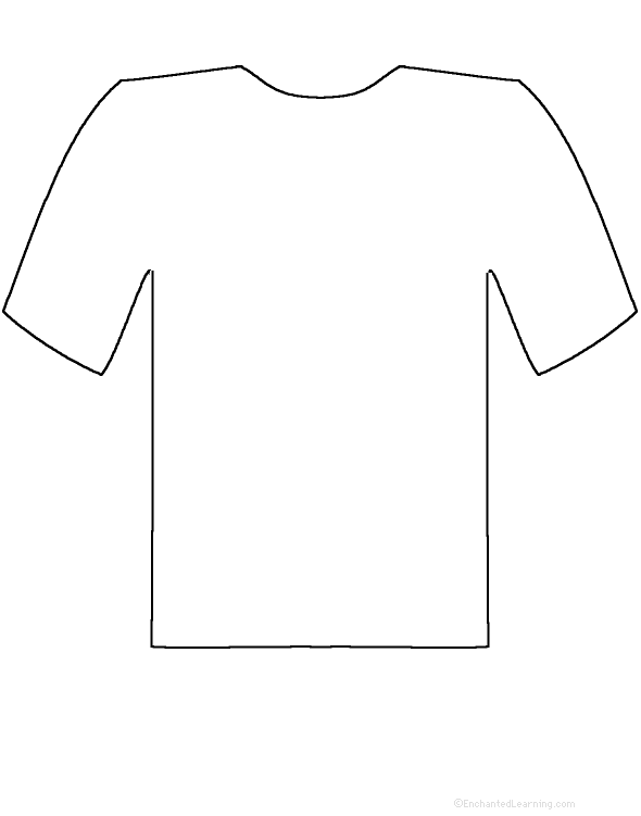 Use a pencil to trace the t-shirt or cut it out with a scissors.