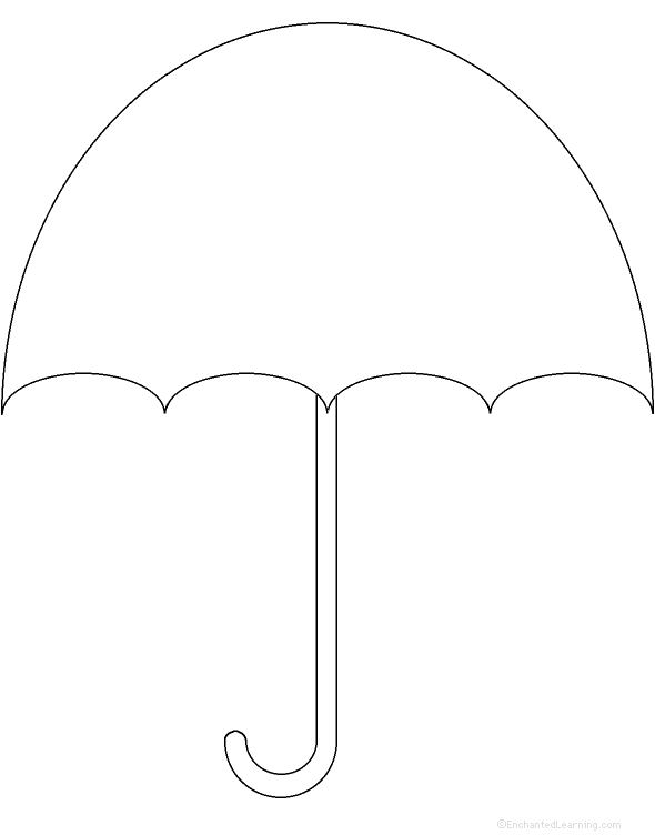 Weather related activities at for Printable umbrella template for preschool