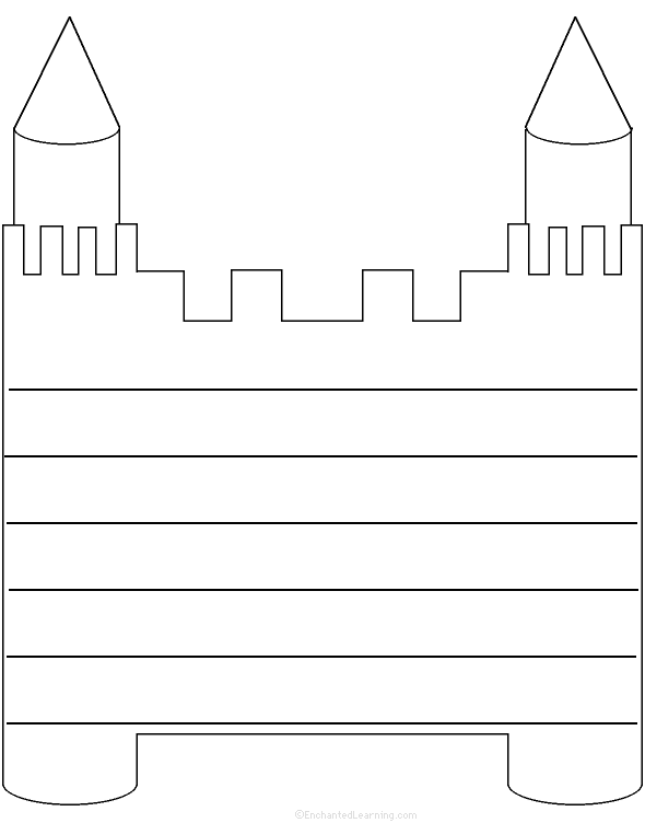 Castle: Shape Poem - Printable Worksheet. EnchantedLearning.com