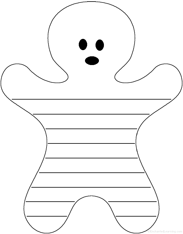 Gingerbread Man: Shape Poem - Printable Worksheet. EnchantedLearning ...