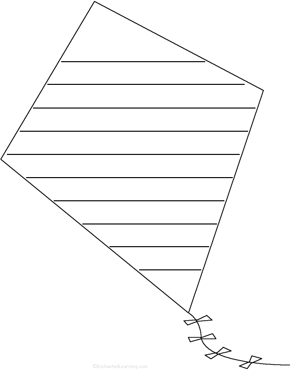Kite: Shape Poem - Printable Worksheet. EnchantedLearning.com