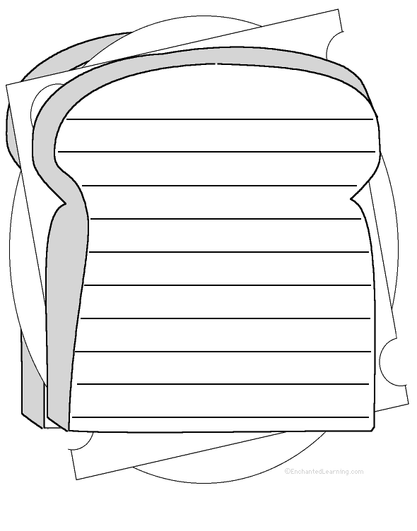 Shape poems for Sandwich template for writing