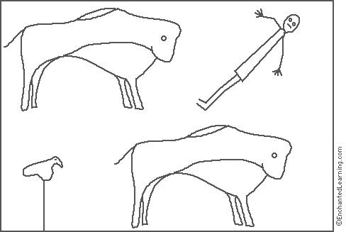 cave paintings coloring pages - photo#8