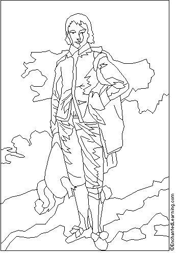 Gainsborough Blue Boy Coloring Page