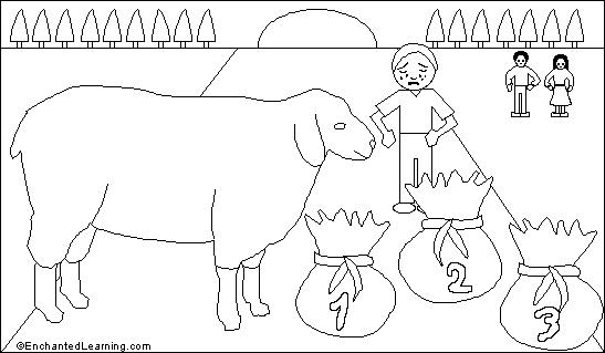 Baa baa black sheep printout for Baa baa black sheep coloring page