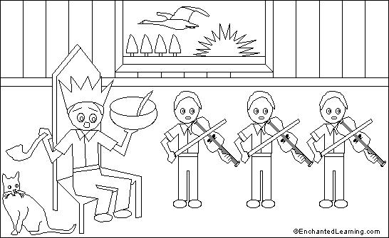 Old king cole printout for Old king cole coloring page