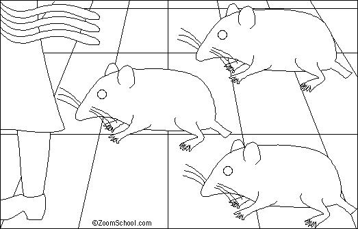 Three Blind Mice Coloring Page Click on a Color Swatch in The