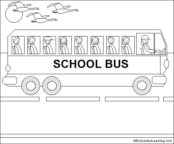 Bus printable coloring pages
