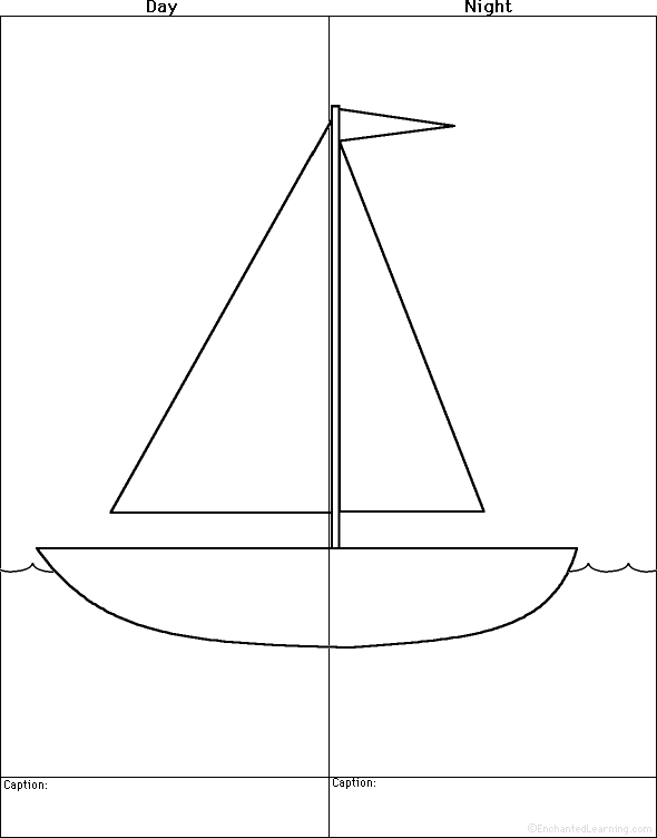 sailboat boats at enchantedlearning com simple boat diagram at gsmx.co