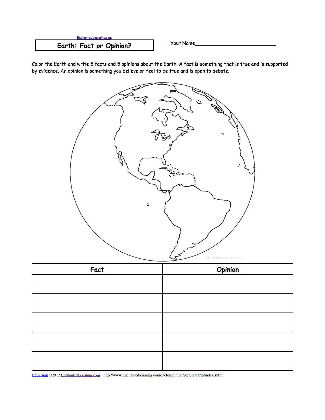 Printables Hemisphere Worksheet earth web links enchanted learning software