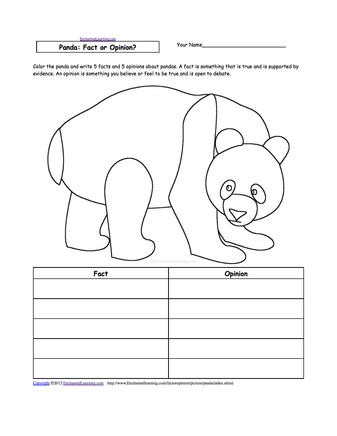 fact or opinion worksheets to print enchantedlearning com