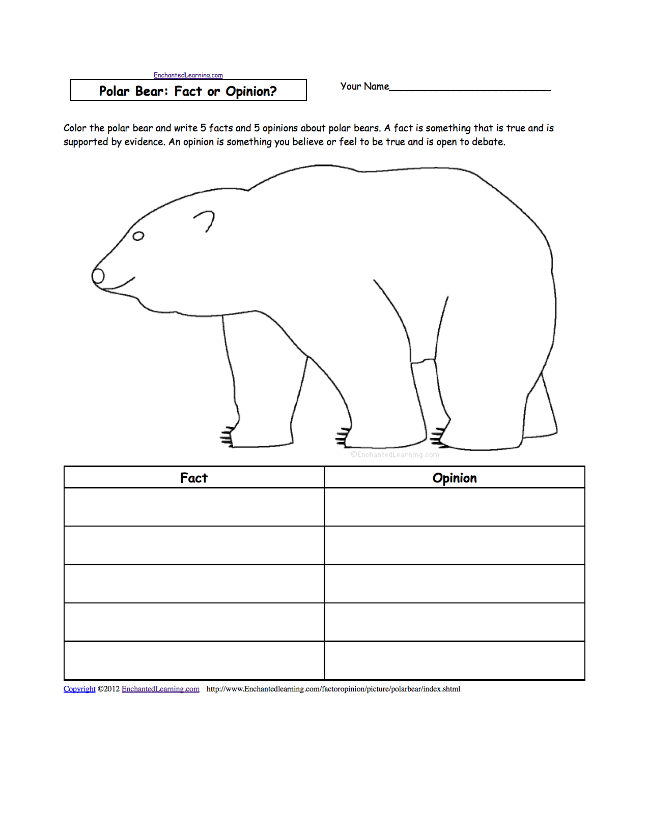 Uncategorized Adaptations Worksheet animal writing worksheets at enchantedlearning com polar bear fact or opinion