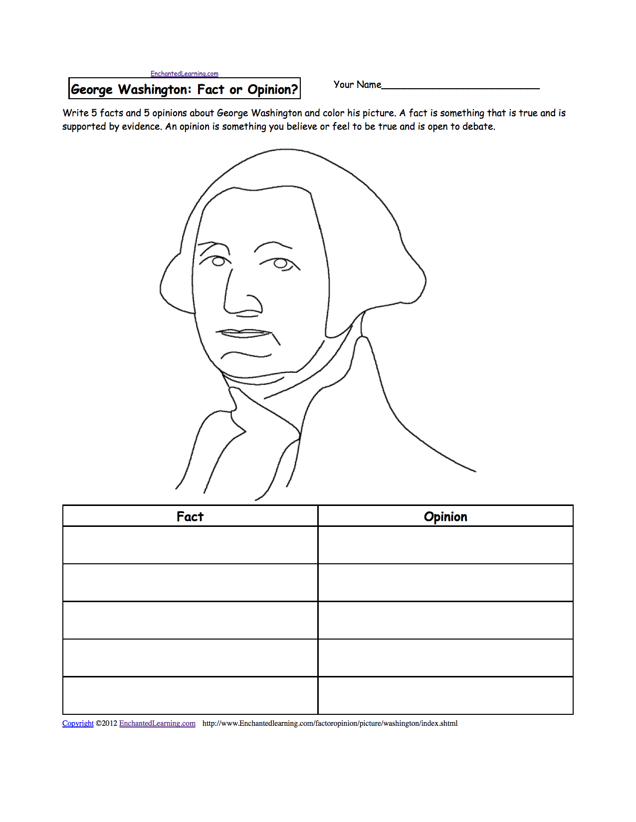 Enchanted Learning  George Washington Resume