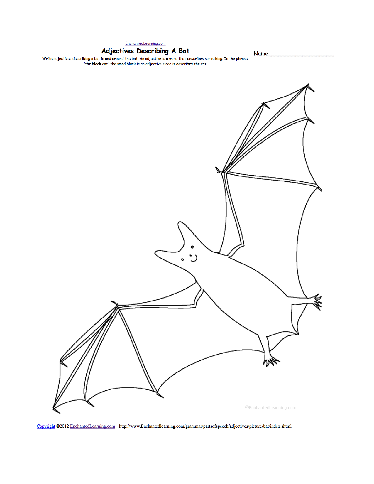 Uncategorized Bat Math Worksheets bats at enchantedlearning com adjectives describing a bat