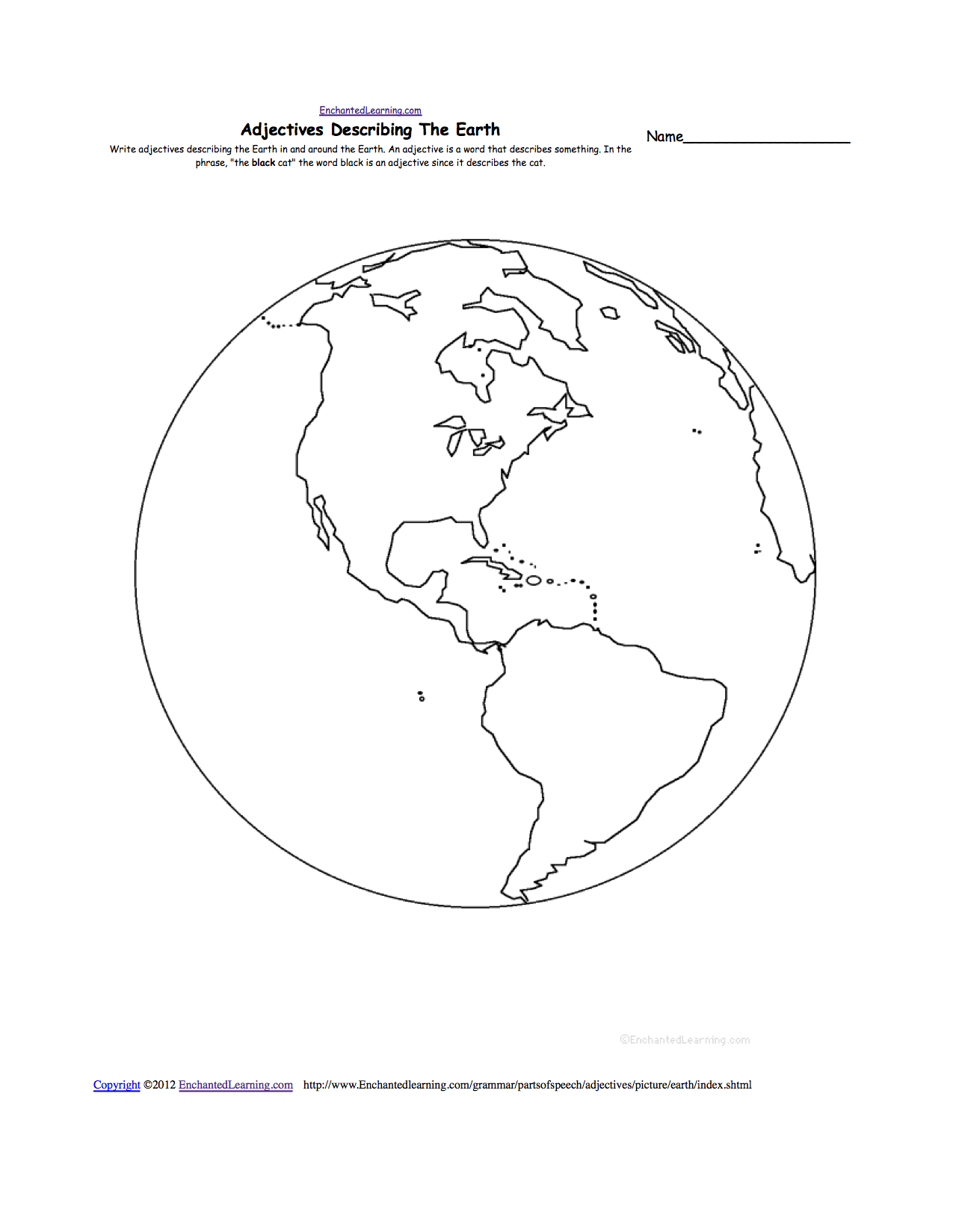 Printables Hemisphere Worksheet e geography enchantedlearning com earth