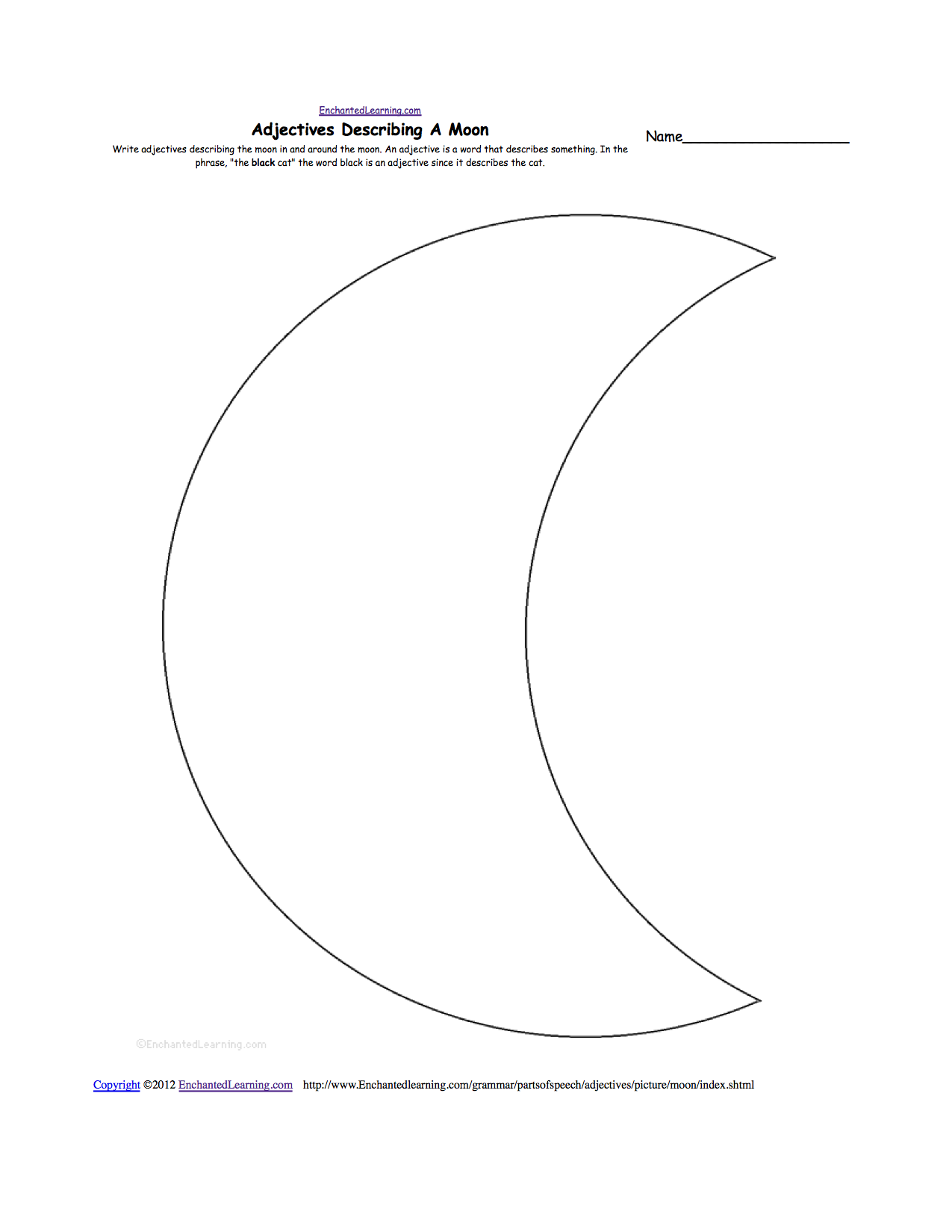 worksheet Moon Phases Worksheets the moon k 3 theme page at enchantedlearning com moon