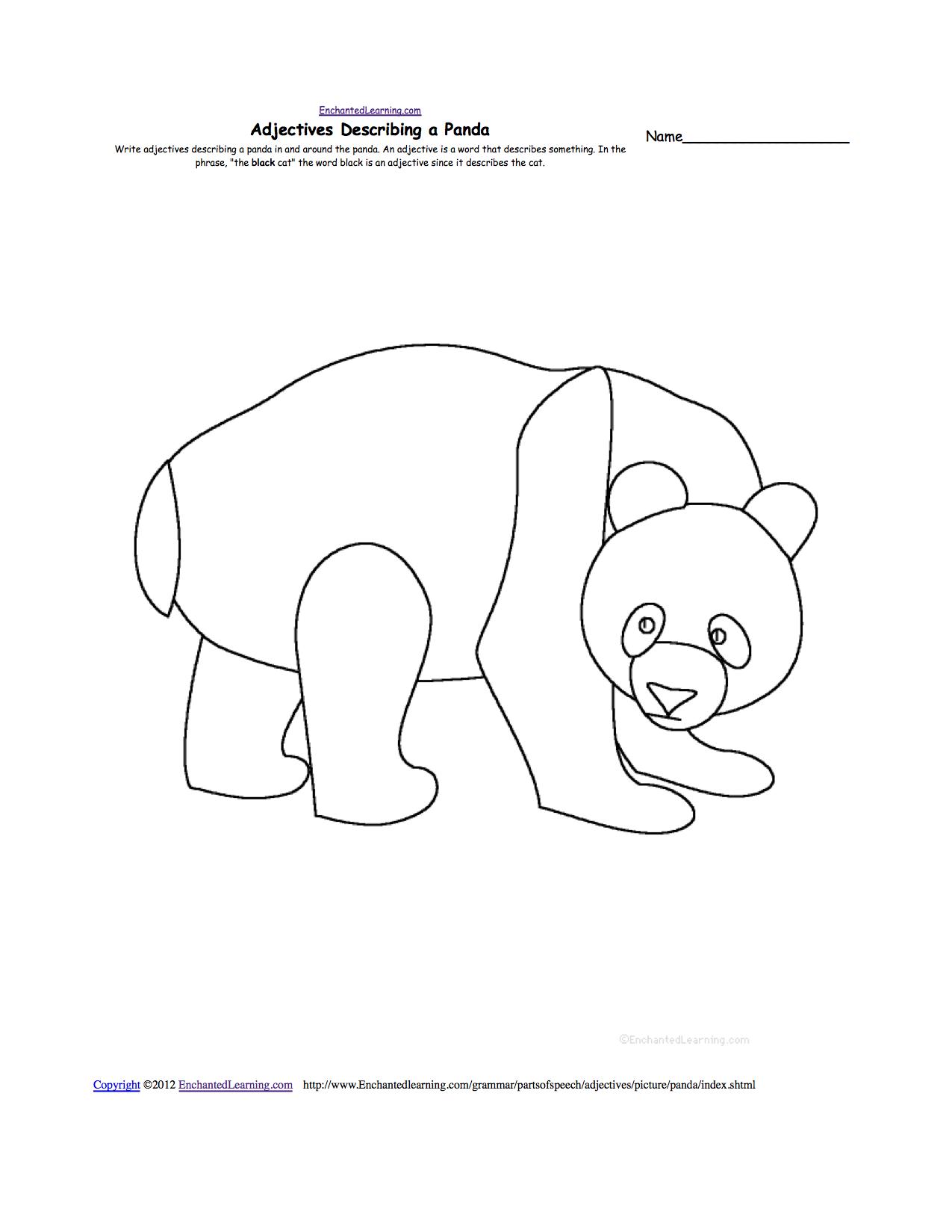 pandas at enchantedlearning com