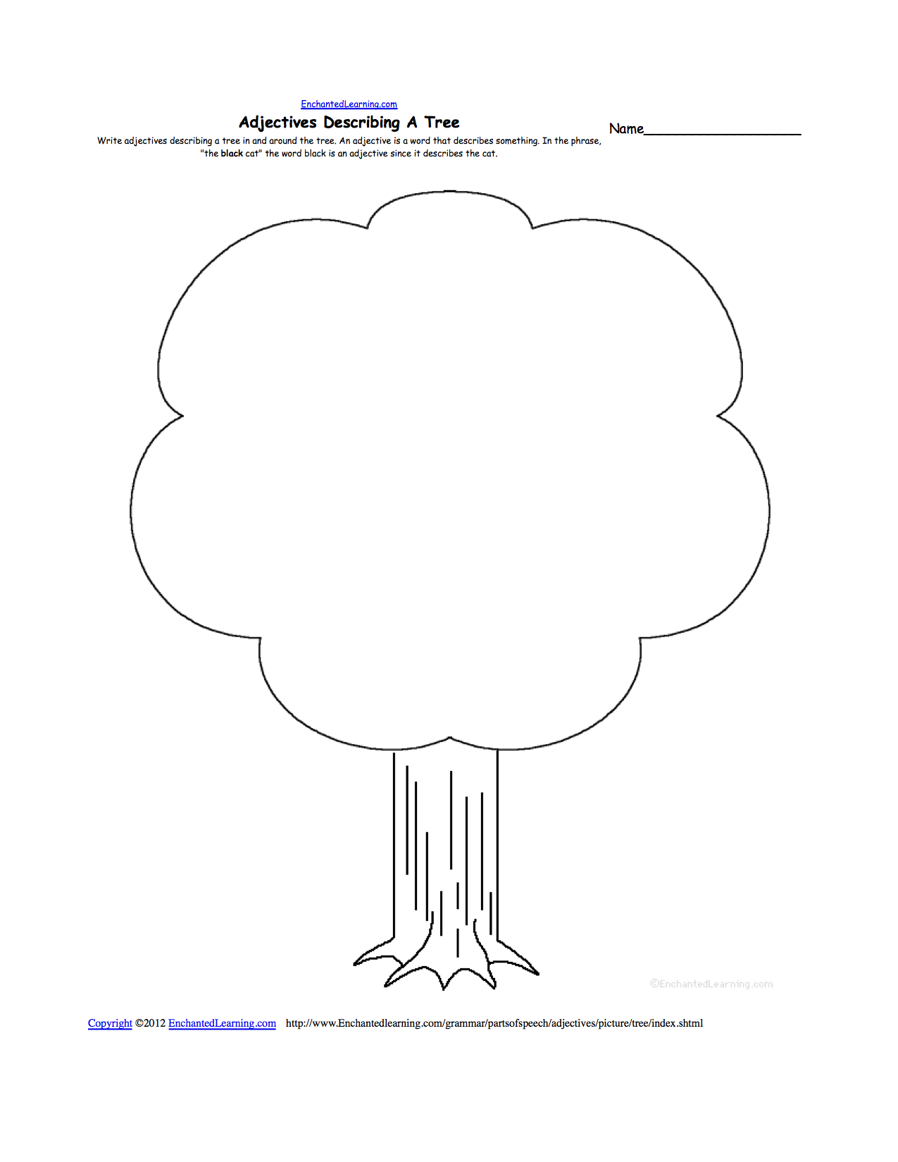 parts of a tree worksheet for preschoolers trees at enchantedlearning parts of a tree. Black Bedroom Furniture Sets. Home Design Ideas