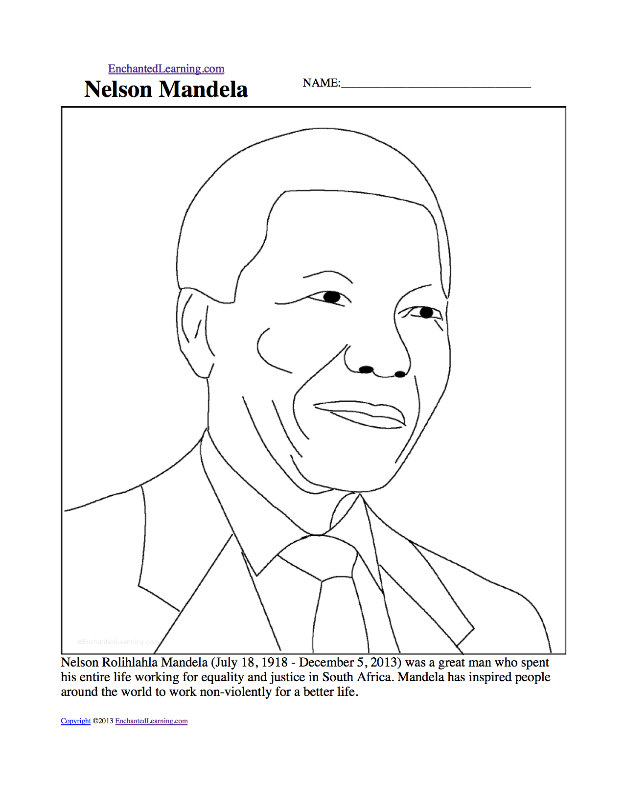 Download image nelson mandela coloring page pc android iphone and
