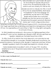 nelson mandela research paper