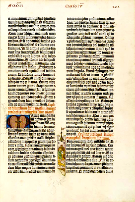 42-Line Bible, page from the Gospel According to Mark
