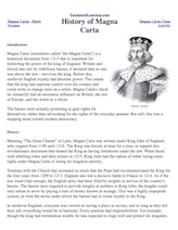 Worksheets Magna Carta Worksheet magna carta cloze activity enchantedlearning com history of carta