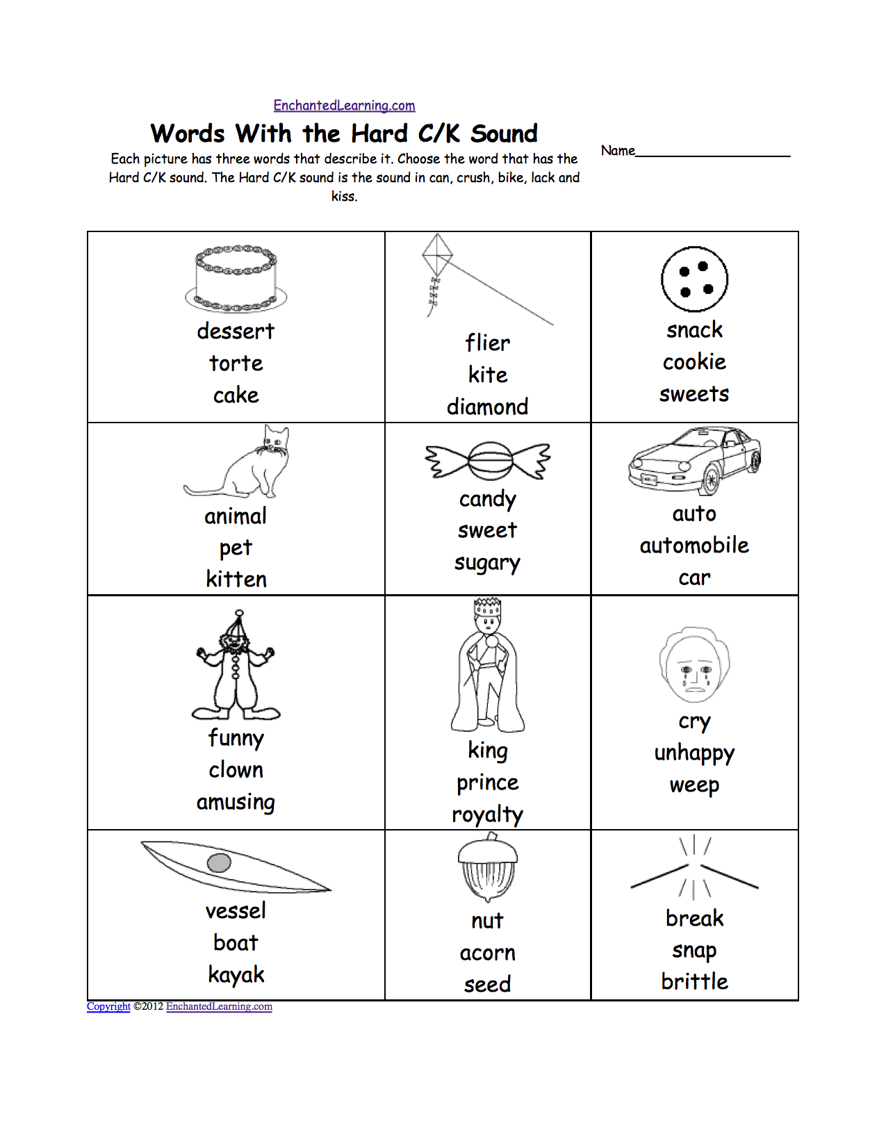 Phonic Sounds Activities Hard Quot c Quot Sound Phonics