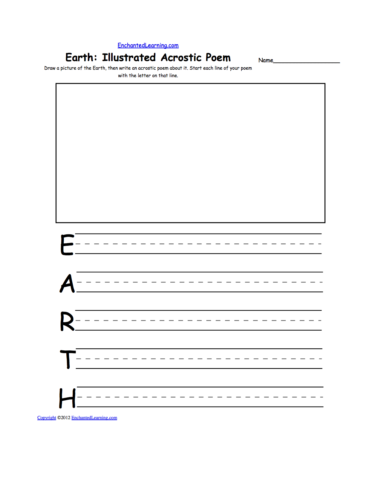 earth day crafts enchantedlearning com